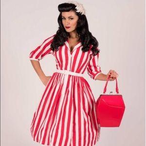 NWT Tatyana Patty White Stripe Dress